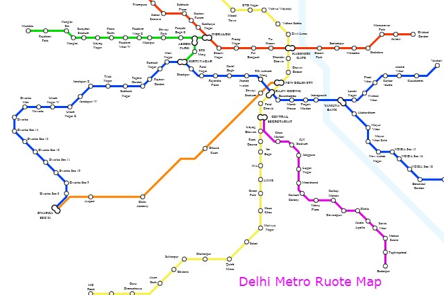 Pink Line Metro Route