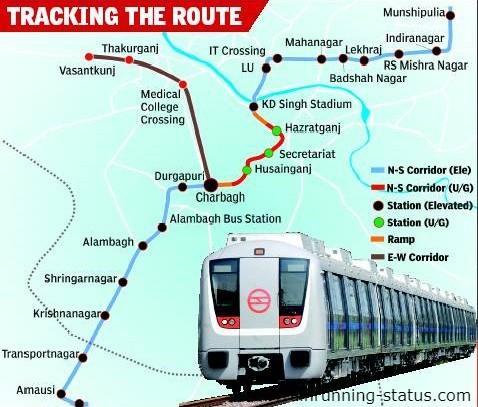 Lucknow Metro train map