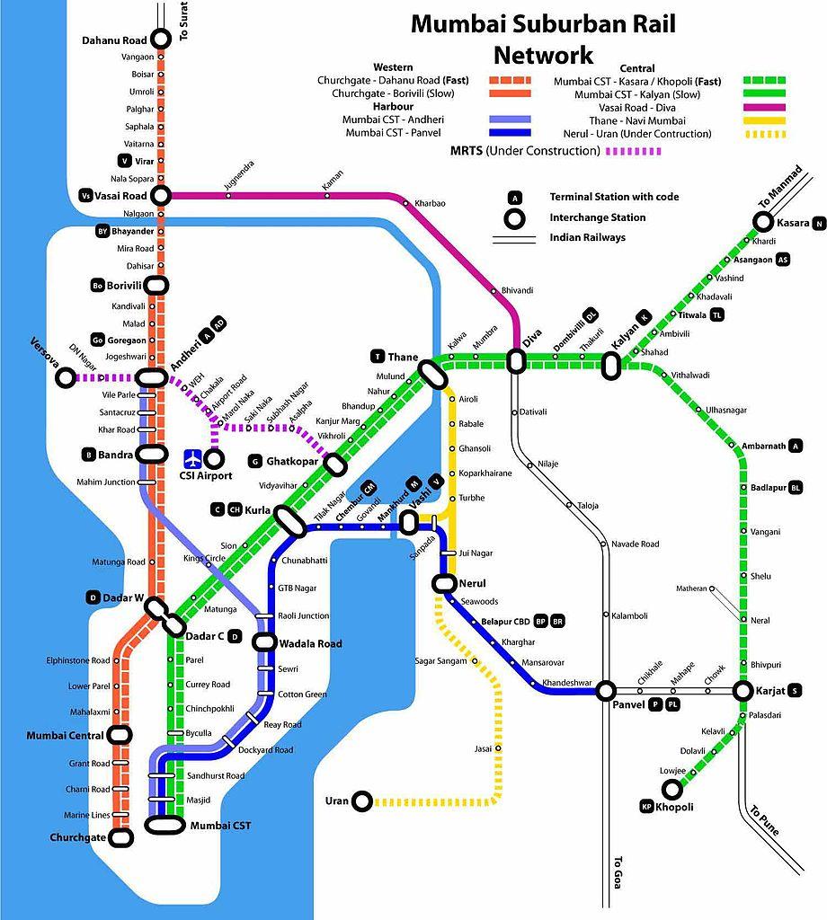 mumbai local map